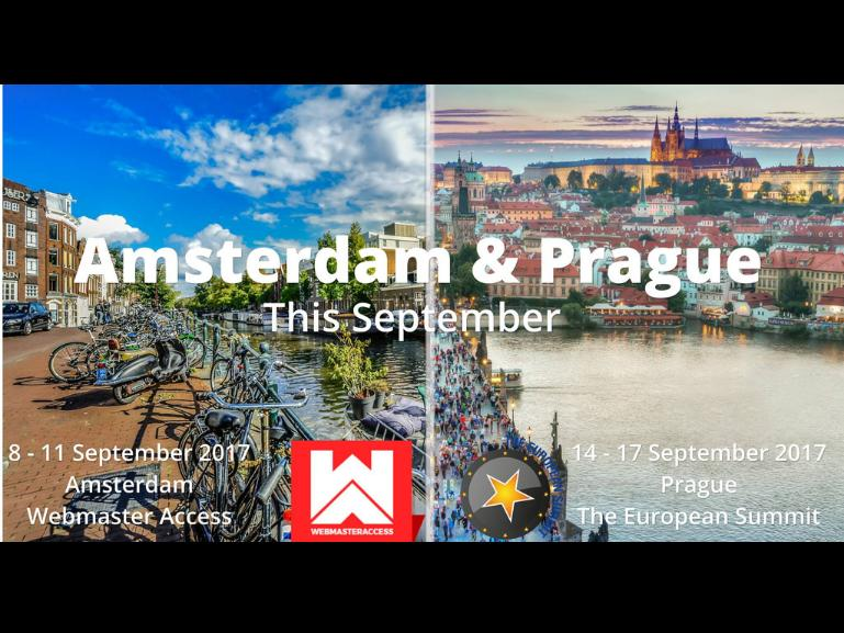 Meet us in Amsterdam and Prague!