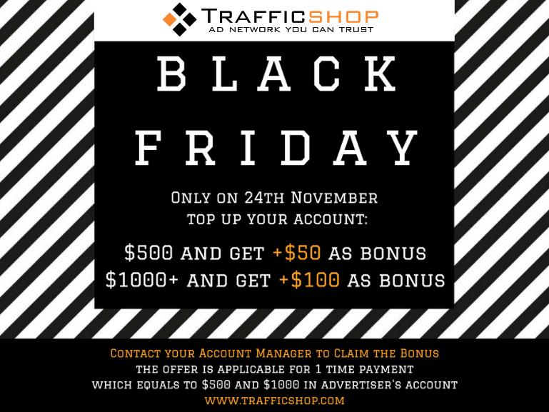BLACK FRIDAY IS HERE !!!