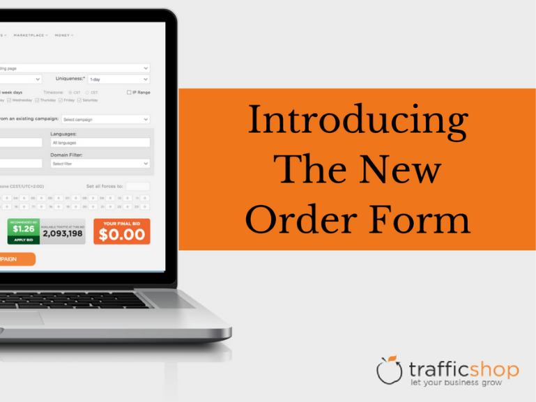 Introducing the New Order Form
