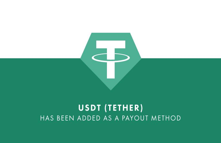 USDT (Tether) added as a payment option